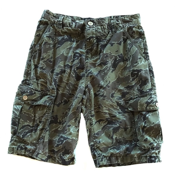 Khaki Green Camouflage CARGO Camo Pants 100/% Cotton Boy/'s Size 14 J